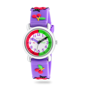 ECC Purple Beetles Strap Kids Watch