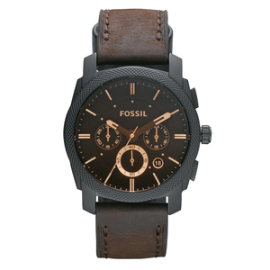 Fossil FS4656 Chronograph Brown Leather Strap