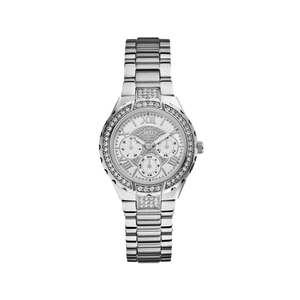 Guess W0111L1 Viva Silver Tone Stone Set Womens Watch