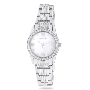 ECC Womens Silver Plated Lovely Stone Set Watch