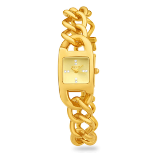 ECC Gold Plated Womens Chain Watch