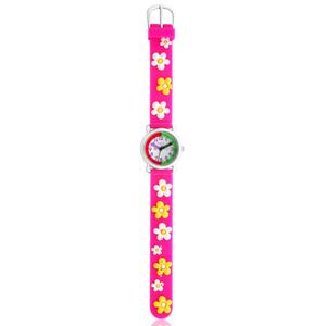 ECC Kids Flowers Pink Strap Watch