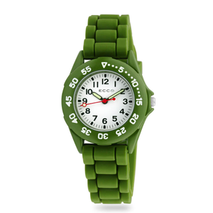ECC Kids Green Silicone Strap Watch