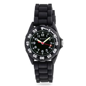 ECC Kids Black Silicone Strap Watch