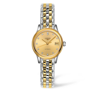 Longines Flagship L42743377 Two-Tone Stainless Steel and Diamonds Womens Watch