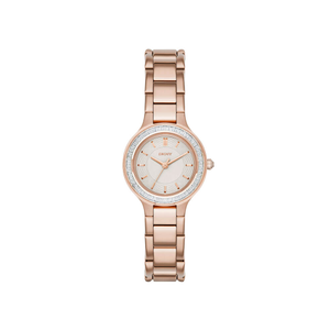 DKNY NY2393 Chambers Stone Set Rose Gold Tone Womens Watch