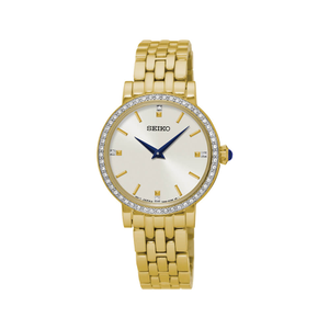 Seiko SFQ808P Stone Set Womens Watch