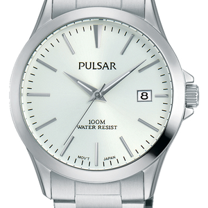 Pulsar PS9449X Silver Tone Mens Watch