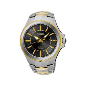 Seiko SNE412P9 Silver & Gold Mens Watch
