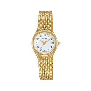 Pulsar PXT946X Gold Tone Womens Watch