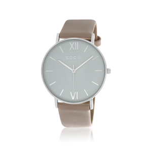 ECC Silver Tone Nude Strap 36mm Womens Watch