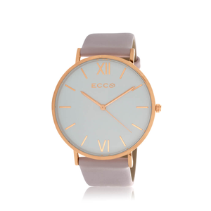 ECC Rose Gold TonePale Pink Strap 41mm Womens Watch