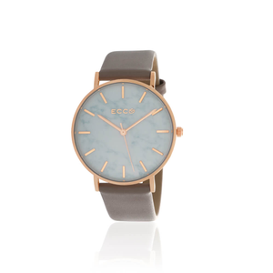 ECC Rose Gold Tone Grey/Taupe Strap 36mm Womens Watch