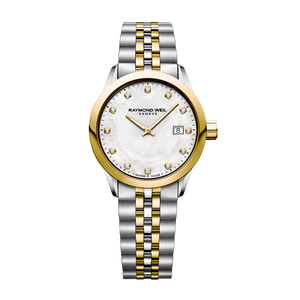 Raymond Weil Freelancer 5629STP97081 Mother of Pearl Dial, 12 Diamonds Womens Watch