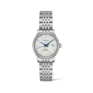 Longines Record L23210876 Automatic Diamond Set Womens Watch