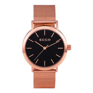 Ellis & Co Collection 'Brooklyn' Mesh Rose Tone Stainless Steel Ladies Watch