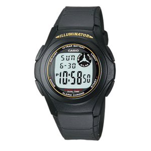 Casio Mens Watch DIG ALARM BLACK UNISEX