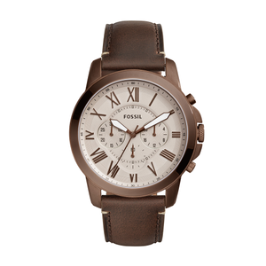 Fossil 'Grant' FS5344 Brown Leather Gents Watch