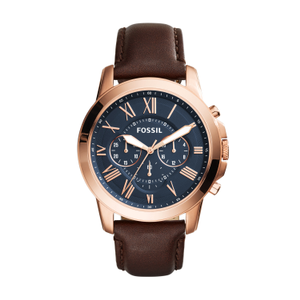Fossil 'Grant' FS5068 Brown Leather Gents Watch