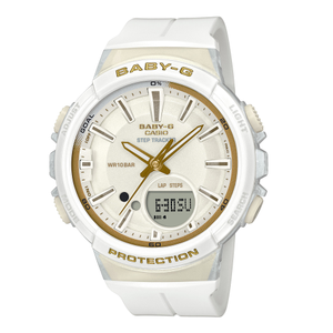 Casio Baby-G BGS-100GS-7ADR Step Tracker White Ladies Watch