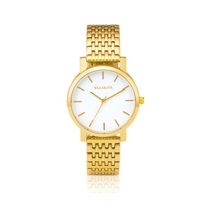 Ellis & Co Stainless Steel Gold Plated Womens Watch