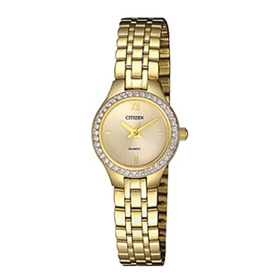 Citizen EJ614251P Gold Swarovski Crystal Ladies Watch