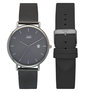 Jag Ryan J2153A Gunmetal Grey Mens Watch with Bonus Strap