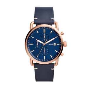 Fossil FS5404 Mens Blue Leather Chronograph Watch