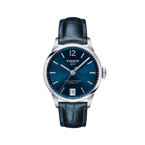 Tissot CHemin Des Tourelles T0992071604700 Powermatic 80 Blue Leather Womens Watch