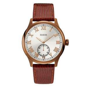 Guess Cambridge W1075G3 Brown Leather Mens Watch