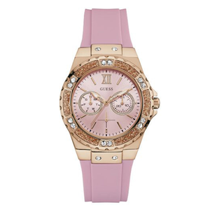 Guess Limelight W1053L3 Pink Silicone Womens Watch