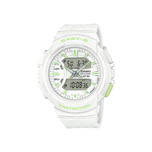 Casio Baby-G BGA240-7A2 100m Lime and White Ladies Watch