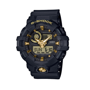 G Shock GA710GB-1A9 Gents Black and Gold Watch