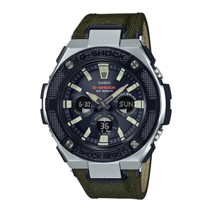 G Shock Steel GSTS130BC-1A Green Chronograph Mens Watch