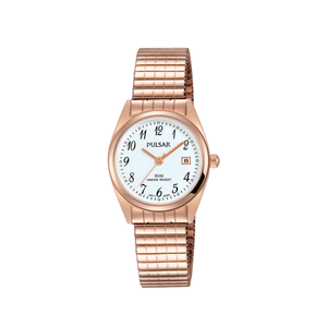 Pulsar PH7446X Rose Plated Stainless Steel Ladies Watch