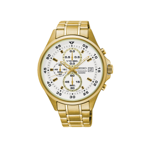 Seiko SKS632P Gold Plated Stainless Steel Chronograph Mens Watch