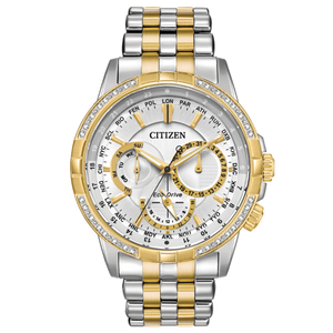 Eco-Drive BU2084-51A Diamond Set Stainless Steel Two Tone Mens Watch