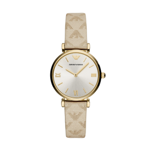 Armani AR11127 Ladies Watch Gold And White