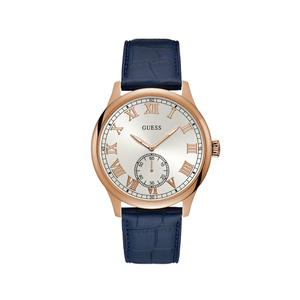 Guess Cambridge W1075G5 Blue Leather Mens Watch