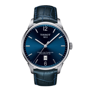 Tissot Chemin Des Tourelles T0994071604700 Powermatic 80 Blue Leather Mens Watch