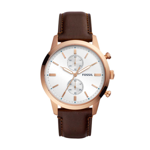 Fossil Townsman FS5468 Brown Leather Mens Watch