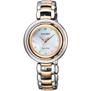 Citizen Eco-Drive Jewel Bottom EM0666-89D Two-Tone Stainless Steel Womens Watch