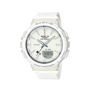 Baby G Step Tracker BGS100-7A White Unisex Watch