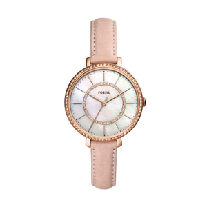 Fossil Jocelyn ES44525 Pink Leather Womens Watch