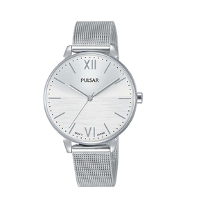 Pulsar PH8445X Silver Stainless Steel Mesh Womens Watch