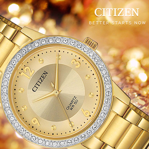 Citizen EL3092-86P Gold Stainless Steel Womens Watch