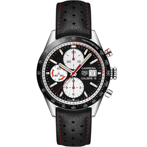 TAG Heuer Carrera CV201APFC6429 Automatic Chronograph Black Leather Mens Watch