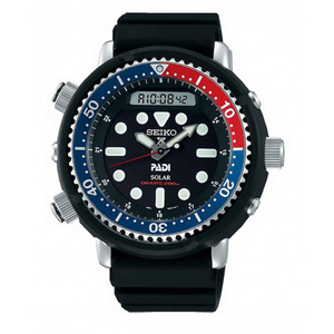 Seiko Prospex SNJ027P Black Silicone Mens Watch