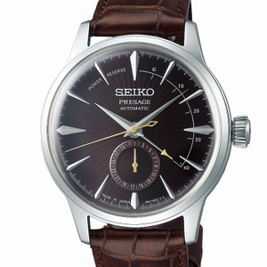 Seiko Presage SSAS393J Brown Leather Mens Watch