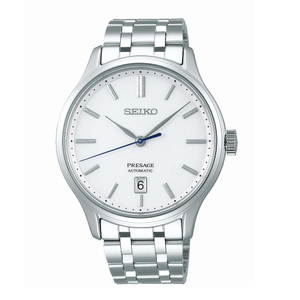 Seiko Presage SRPD39J Silver Stainless Steel Mens Watch